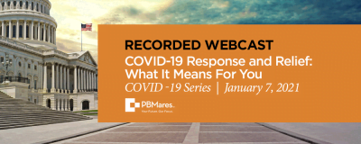 webinar covid response and relief