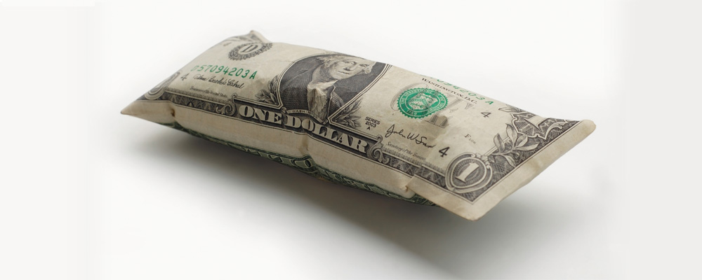 inflated dollar bill inflation