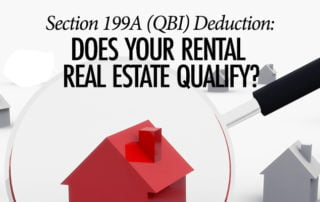 QBI Deduction Real Estate - Baltimore CPA