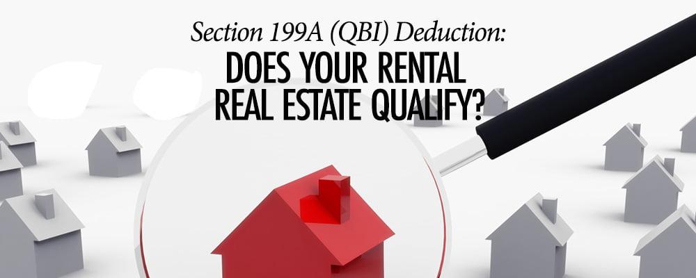 QBI Deduction Real Estate - Baltimore CPA