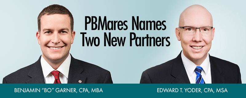 Virginia CPA Partners Named - Bo Garner and Ed Yoder