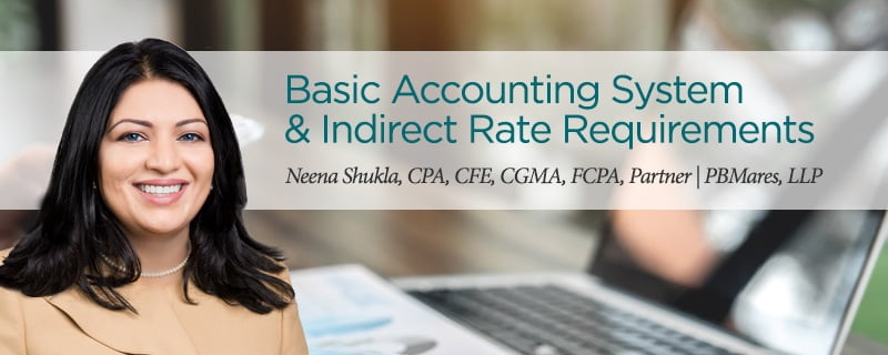 Indirect Rate Requirements - Government Accounting