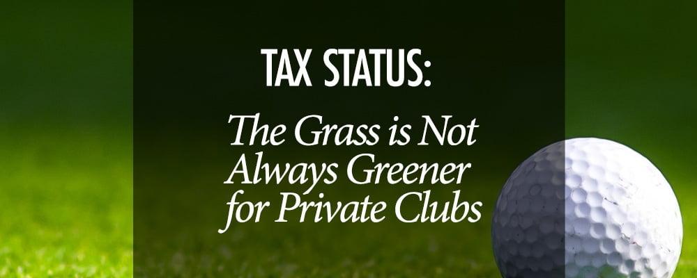 Tax Status Private Clubs - Virginia CPA