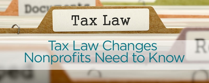 Tax Law Changes - Nonprofit CPA firm