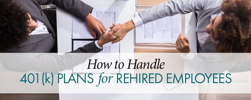Company Retirement Plan | Rehired Employee | Virginia CPA |