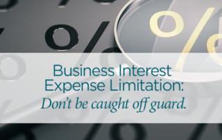 business interest expense limitation tax shelter