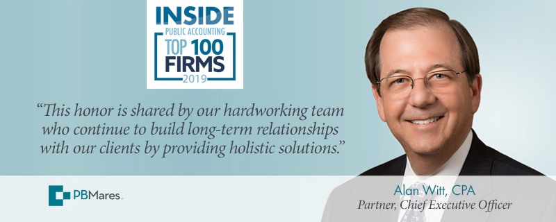 pbmares named top 100 accounting firm 2019
