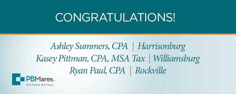 pbmares cpas promoted to senior tax manager
