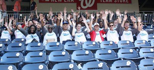 interns at washington nationals game