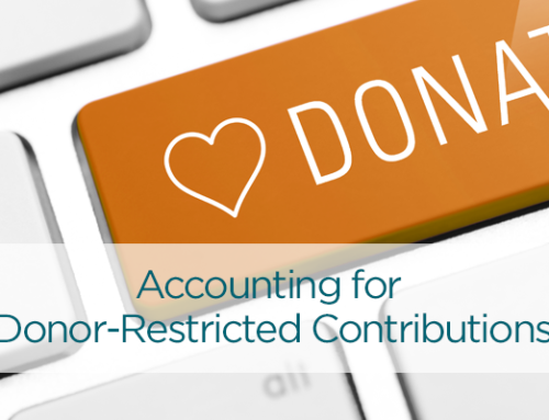 Recording Contributions with Donor-Imposed Restrictions