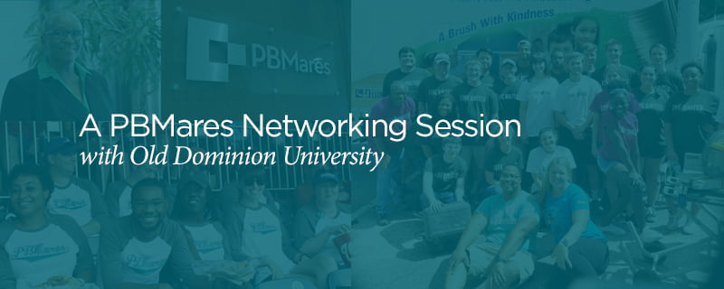 pbmares networking event with odu accounting