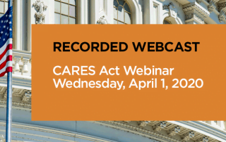 recorded webcast cares act pbmares