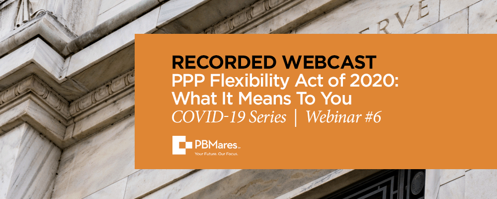 webinar ppp flexibility act of 2020