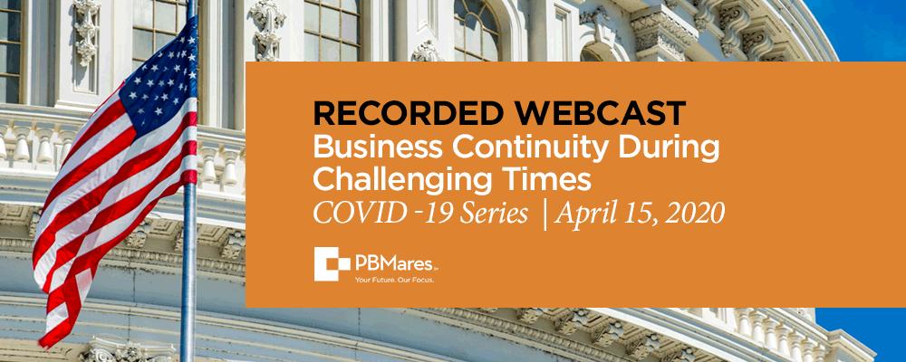 covid 19 webinar business continuity