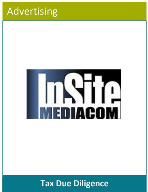 PBMares Tax Due Diligence - InSite Mediacom