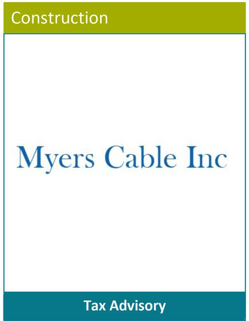 PBMares Tax Advisory -Myers Cable Inc