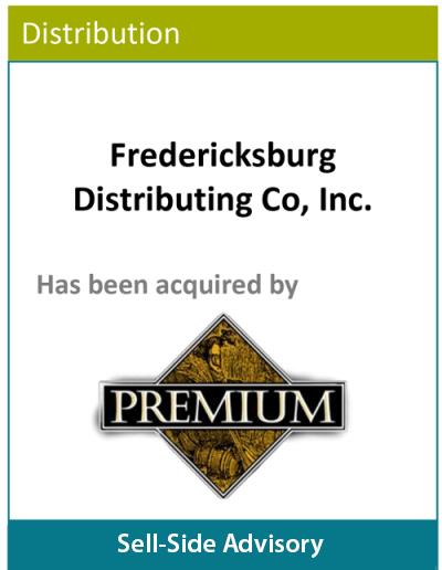 PBMares Sell Side Advisory Fredericksburg Distributing Co