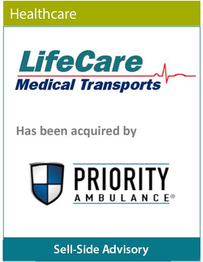 Transaction Advisory LifeCare Medical Transports