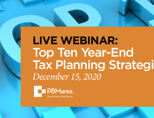 Webinar: Top 10 Year-End Tax Planning Strategies