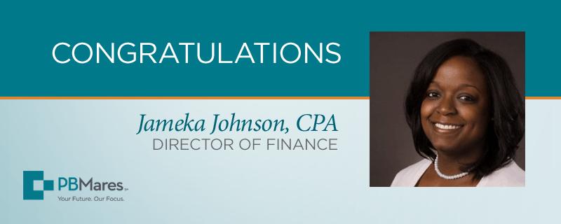 jameka johnson pbmares finance director