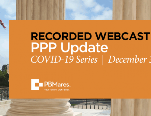 PPP Webinar: Forgiveness Application and Legislative Update