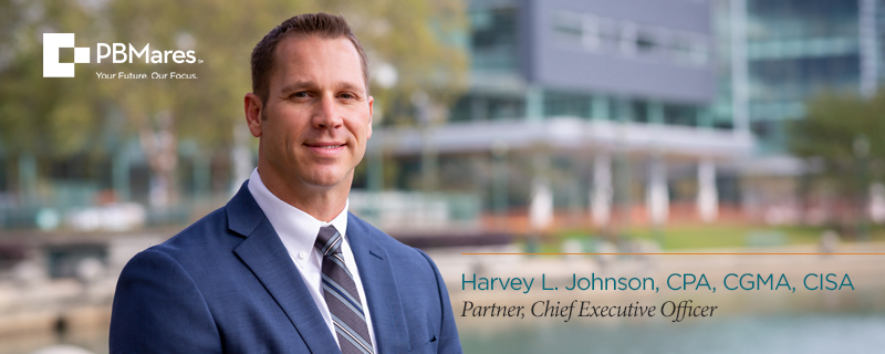 Harvey Johnson PBMares LLP New CEO